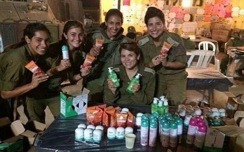 Female IDF soldiers loved getting gifts of cosmetics, but the company's home office was not so happy about it.