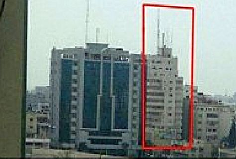 High-rise multi-use tower in Gaza City attacked overnight by IAF, August 26, 2014.