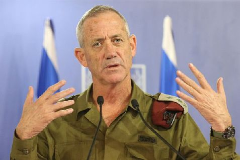 IDF Chief of Staff Lt.-Gen. Benny Gantz briefs media