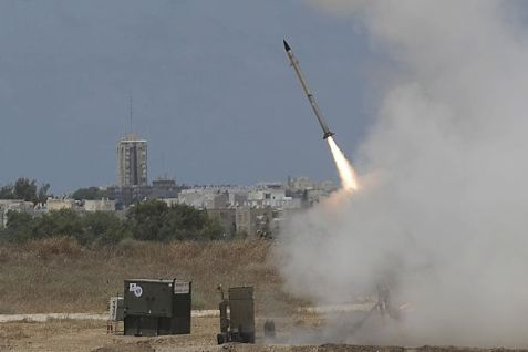 The Iron Dome Missile launch near Ashdod on during the war against Hams this summer.