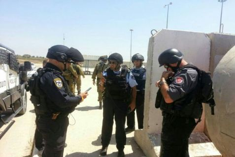 Israeli Police at Erez Crossing checkpoint