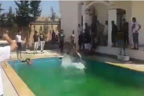 The pool at the residential annex of the US Embassy in Libya.