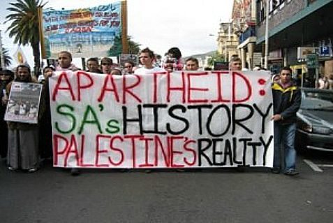 Anti-Israel protest in South Africa.