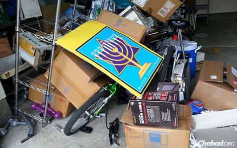 No one was injured but damage was widespread at the Napa Valley Chabad Jewish Center.