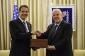 NYS Gov. Andrew Cuomo and President Reuven Rivlin met in Jerusalem, August 13, 2014.