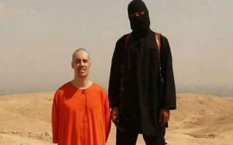James Foley and his Islamic State executioner.