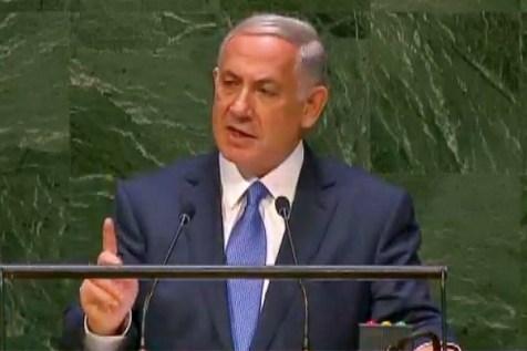 Israeli Prime Minister Binyamin Netanyahu speaks to the UNGA, Sept. 29, 2014.