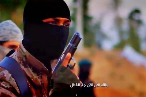 Terrorist in a video the FBI has released, hoping viewers can help identify him. Oct. 7, 2014.