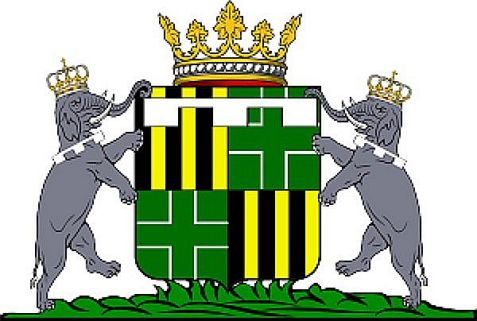 The coat of arms of Her Royal Highness, Crown Princess Greta of Ladonia.