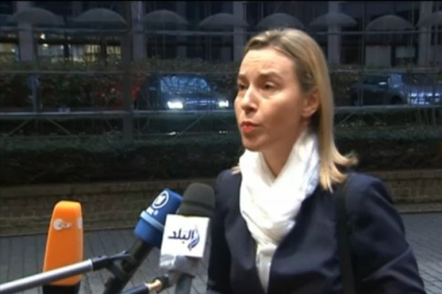 EU foreign policy chief Federica Mogherini of Italy.