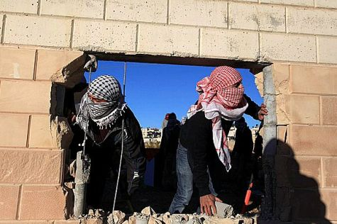 Arabs create opening for terrorists to walk the security wall between Ramallah and Jerusalem and Ramallah.