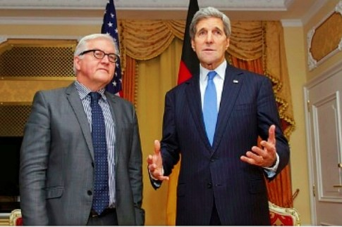 US Secretary of State John Kerry with German Foreign Minister Frank-Walter Steinmeier before P5+1 talks. (Nov. 22, 2014.)