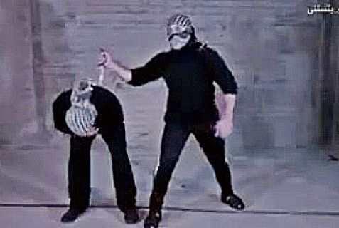 """A clip from""""How to Stab a Jew,"""" the latest hit on Arab social media."""