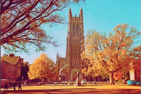 Duke University's iconic Cathedral.