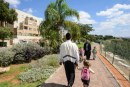 A walkway in the Shomron community of Immanuel