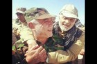 A photograph posted by Mashregh News, an Iranian outlet affiliated with the Revolutionary Guards Corps, that shows top Iranian general Qassem Soleimani (R) embracing the leader of Iraq's Shiite Badr militia Hadi al-Amiri. This picture is not dated, but is thought to have been taken in 2014.