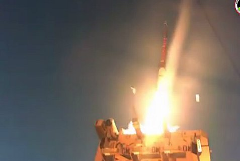 Fourth and successful test of David's Sling anti-missile system.