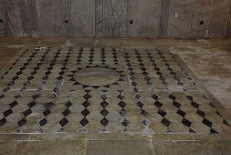 Leaked photo of the mosaic floor covering the Holy Foundation Rock on the Temple Mount.