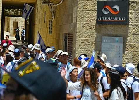 Youth parading in kotel