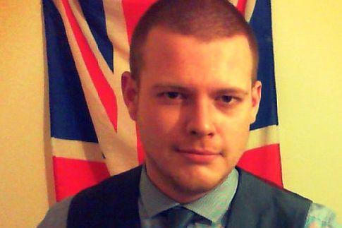 Self-described fascist Joshua Bonehill, leader of a growing neo-Nazi movement in London, UK.