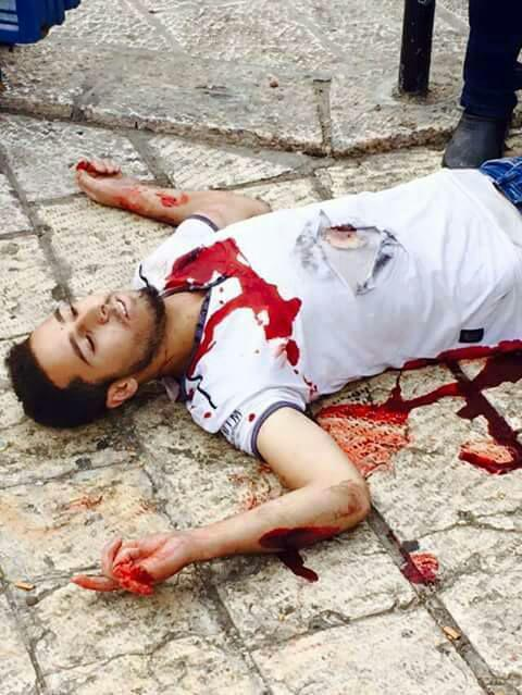 The terrorist was shot by his victim and later died.