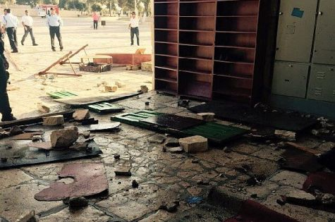 Aftermath of violent Arab riot on the Temple Mount.