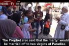 MEMRI clip showing a passerby scolding the sheik for teaching martyrdom to children at Al-Aqsa Mosque summer camp. Translated by MEMRI.