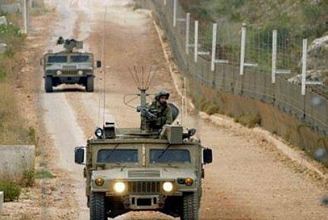IDF patrol at the border with Lebanon.