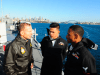 Australian Prime Minister Tony Abbott speaks with Sailors assigned to the U.S. 7th Fleet amphibious command flagship USS Blue Ridge