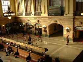 Hoboken, NJ Terminal waiting and reception area.