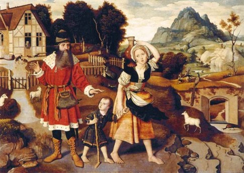 Jan Mostaert: Abraham casting out Hagar and Ishmael