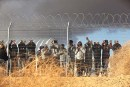 African migrants protest outside Holot detention center