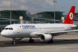 A Turkish Airlines Airbus passenger aircraft at Istanbul's Ataturk Airport (file)