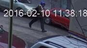 Crown Heights stabber fleeing the scene on CCTV