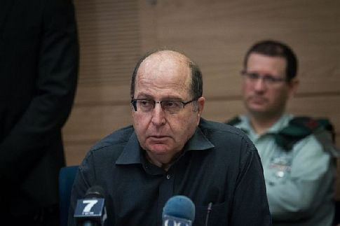 Defense Minister Moshe Ya'alon addresses the Knesset Foreign Relations and Defense Committe.