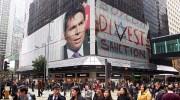 Danny Danon and BDS poster on billboards / Photo montage via photofunia.com