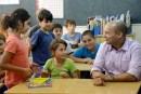 Education Minister Naftali Bennett with constituents. / Photo credit: Naftali Bennett's Facebook page