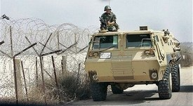 Egyptian Army armored vehicle.