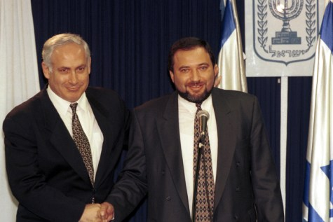 Benjamin Netanyahu and Avigdor Liberman. December 25, 1996