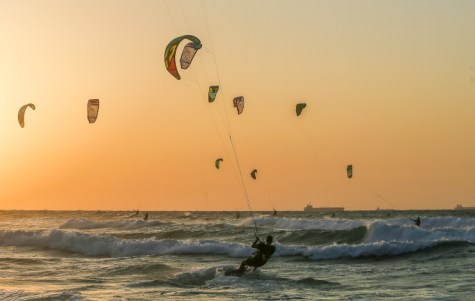 Kite Surfing in Ashkelon
