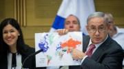 Netanyahu and Map