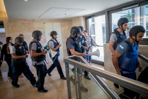 Knesset Honor Guard Civil Defense Drill Air Raid Siren