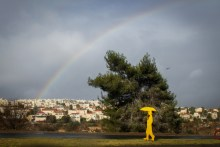 Rainbow over Jerusalem