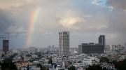 Rainbow over Tel Aviv.