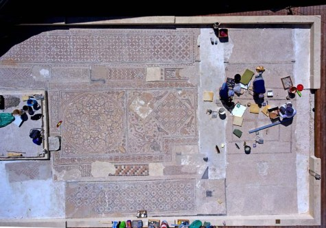 Fascinating mosaics, many of which have never been displayed before, will be revealed for the first time within the framework of the archaeology campus. Photographer: Ardon Bar-Hama