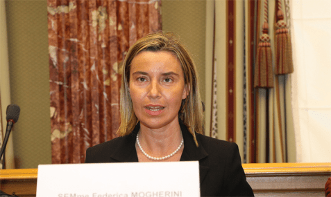 High Representative of the European Union for Foreign Affairs and Security Policy Federica Mogherini.