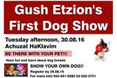 Gush Etzion Dog Show Announcement