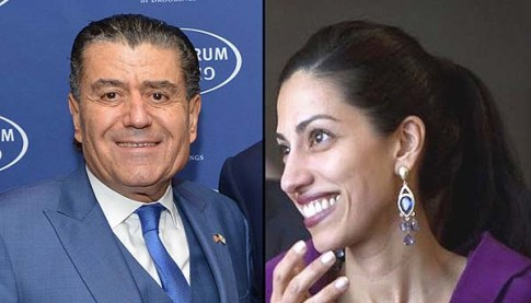 Haim Saban and Huma Abedin