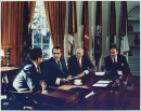 Henry Kissinger, Richard Nixon, Gerald Ford and Alexander Haig