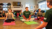 Hillel Yoga class / Courtesy, provided by Jamie Goldberg